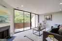 Living Room with Panoramic Windows - 2114 S QUINCY ST #2, ARLINGTON