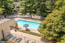 View Down to Pool - 2114 S QUINCY ST #2, ARLINGTON