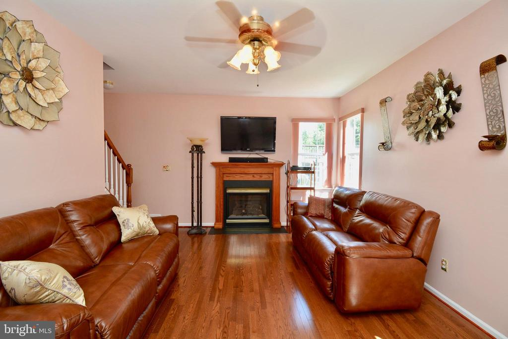 FAMILY ROOM WITH GAS FIREPLACE - 35 BLOOMINGTON LN, STAFFORD