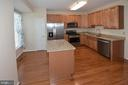 Beautiful remodeled kitchen w/island work station. - 15704 LANSDALE PL, DUMFRIES