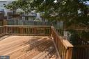 Rear Deck  with steps down to the fenced rear yard - 15704 LANSDALE PL, DUMFRIES