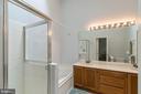 Master bath with skylights, separate shower/tub - 7817 REBEL WALK DR, MANASSAS
