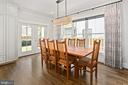 Custom drapery and dining room to rear yard - 2408 16TH ST N, ARLINGTON