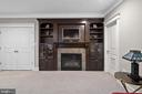 Striking built-in and gas fireplace - 2408 16TH ST N, ARLINGTON