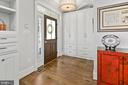 Entry foyer with built-in cabinetry - 2408 16TH ST N, ARLINGTON
