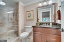 Full bath lower level - 8305 CRESTRIDGE RD, FAIRFAX STATION