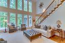 Family room with second staircase - 8305 CRESTRIDGE RD, FAIRFAX STATION