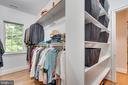 Master walk in closet - 8305 CRESTRIDGE RD, FAIRFAX STATION
