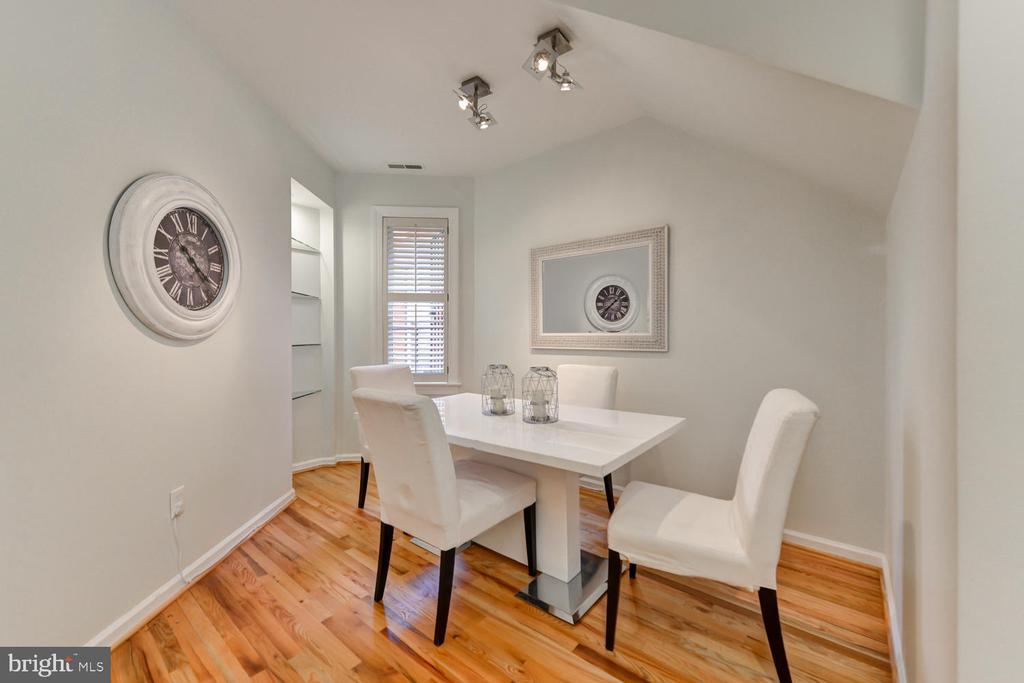 Dining area off kitchen - 1313 RHODE ISLAND AVE NW #B, WASHINGTON