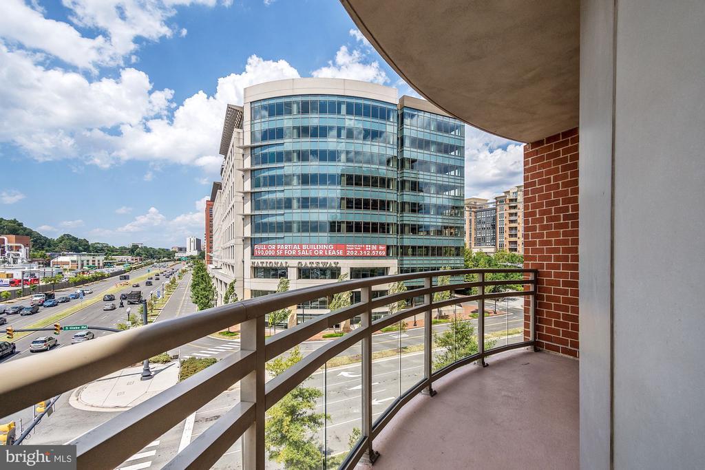 view from large balcony - 3600 S GLEBE RD #310W, ARLINGTON