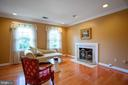 MASTER SUITE WITH FIREPLACE - 3605 HUMMER RD, ANNANDALE