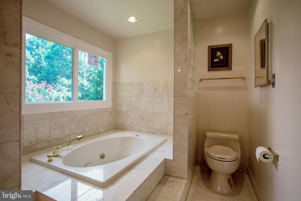 LUXURY MASTER BATHROOM WITH SOAKING TUB - 3605 HUMMER RD, ANNANDALE