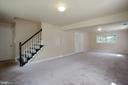 FULLY FINISHED LOWER LEVEL WITH FULL BATHROOM - 3605 HUMMER RD, ANNANDALE