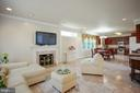 FAMILY ROOM WITH FIREPLACE - 3605 HUMMER RD, ANNANDALE