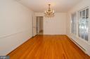 Dining room towards door to kitchen - 101 SW MORVEN PARK RD SW, LEESBURG
