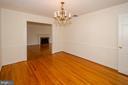Dining room towards door to  living room - 101 SW MORVEN PARK RD SW, LEESBURG