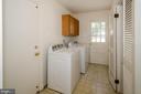 Laundry room door to backyard - 101 SW MORVEN PARK RD SW, LEESBURG