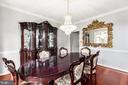 Dining room - 13807 LAUREL ROCK CT, CLIFTON
