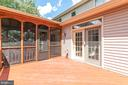 Screened porch / deck - 13807 LAUREL ROCK CT, CLIFTON