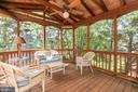 Screened porch /deck - 13807 LAUREL ROCK CT, CLIFTON