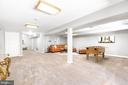 Basement and game room - 13807 LAUREL ROCK CT, CLIFTON