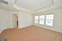 Master bedroom with coffered ceiling - 19342 GARDNER VIEW SQ, LEESBURG