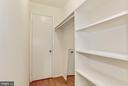 Walk-in closet in hall way - 1600 RENATE DR #301, WOODBRIDGE