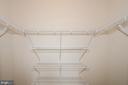 Master closet - 19355 CYPRESS RIDGE TER #823, LEESBURG
