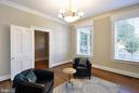 Living room view toward hallway door - 611 CAROLINE ST, FREDERICKSBURG