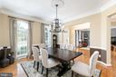 Dining Room - 18700 RIVERLOOK CT, LEESBURG