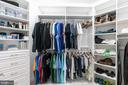 Master closet - 18700 RIVERLOOK CT, LEESBURG