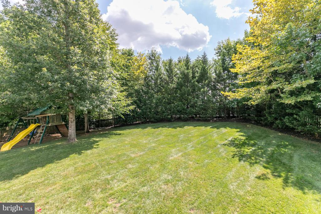 Fenced, flat back yard - 18700 RIVERLOOK CT, LEESBURG