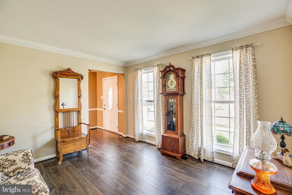 Formal living room with wide plank flooring - 5 ANTIETAM LOOP, STAFFORD