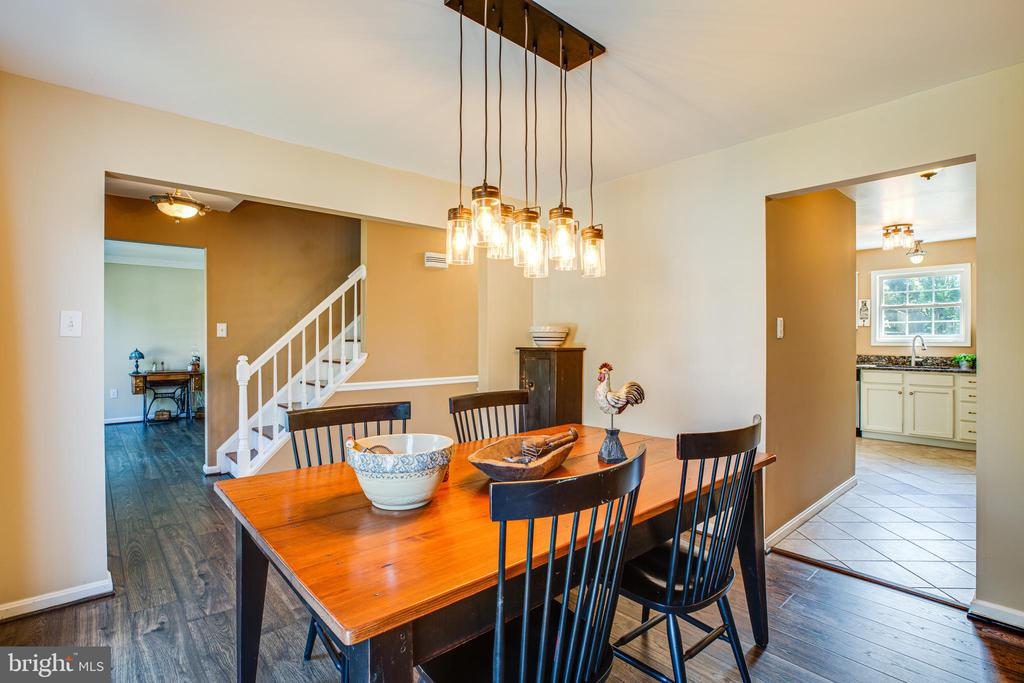 Formal dining room  with updated lighting - 5 ANTIETAM LOOP, STAFFORD