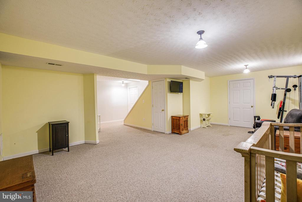 Wide open rec room in the basement with full bath - 5 ANTIETAM LOOP, STAFFORD