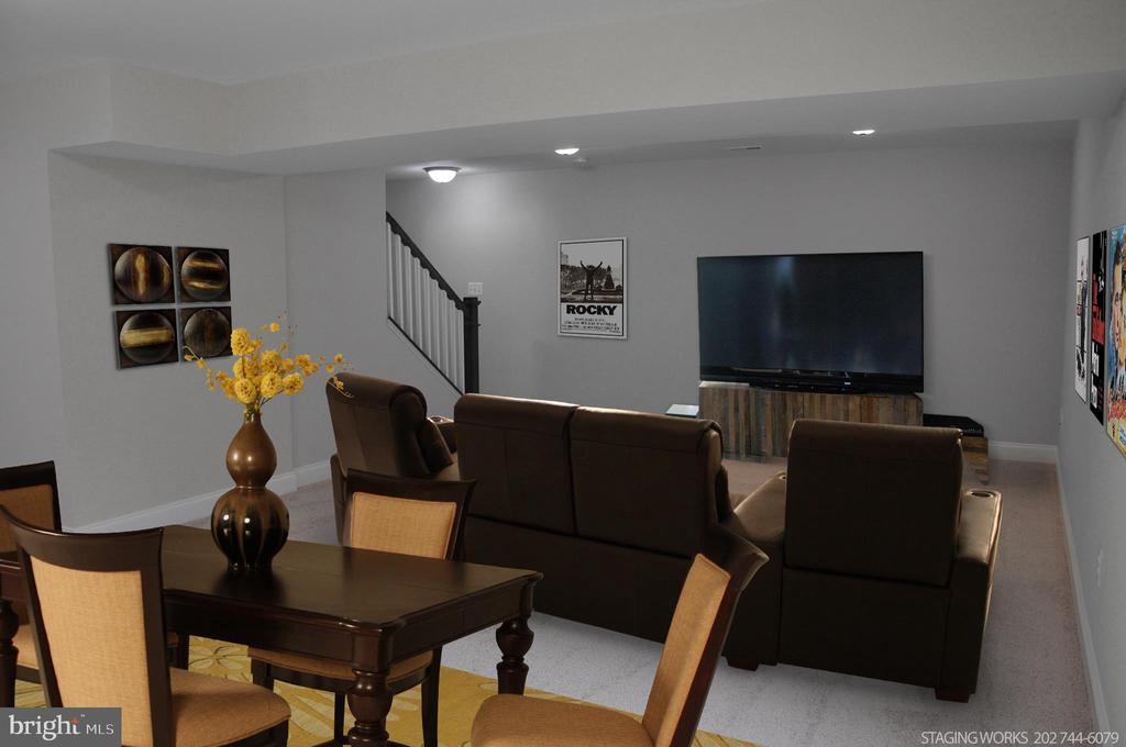 LOWER LEVELMEDIA AND GAME ROOM - 15 BELMONT CT, SILVER SPRING