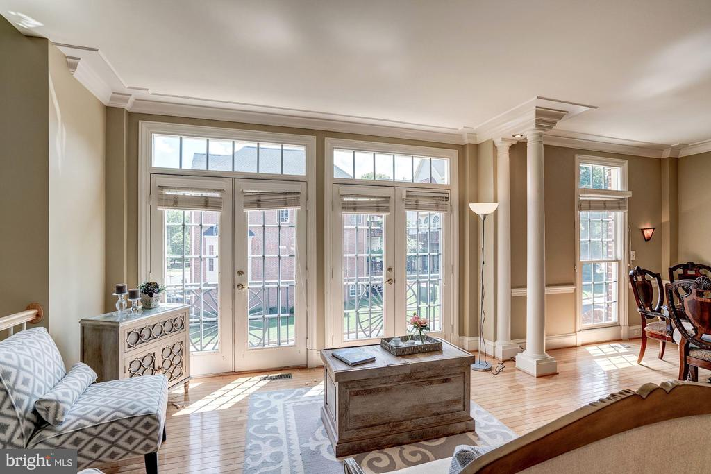 Family room in front w/ double french doors - 47834 SCOTSBOROUGH SQ, POTOMAC FALLS