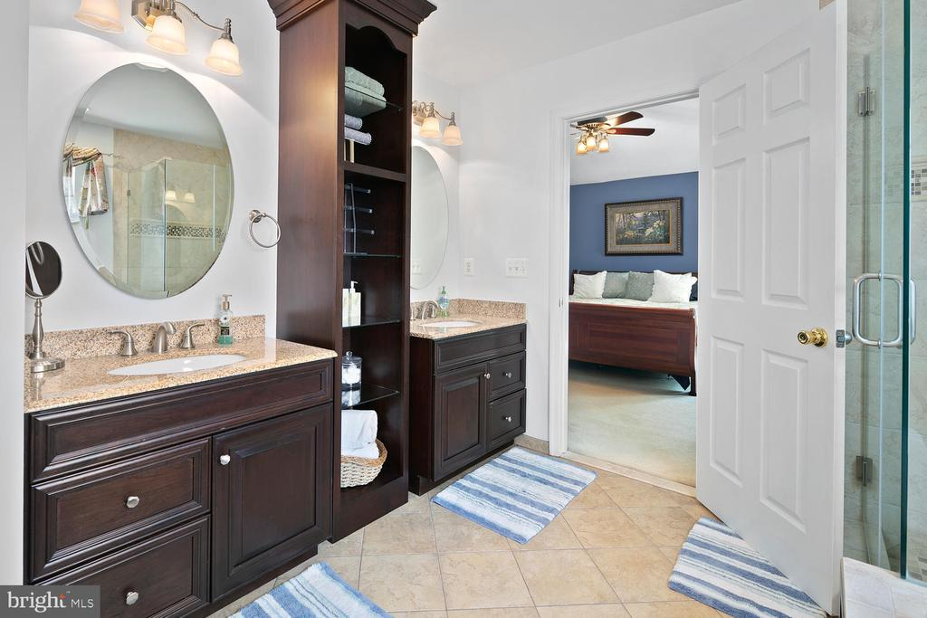 Master Bathroom with granite - 21332 MARSH CREEK DR, BROADLANDS