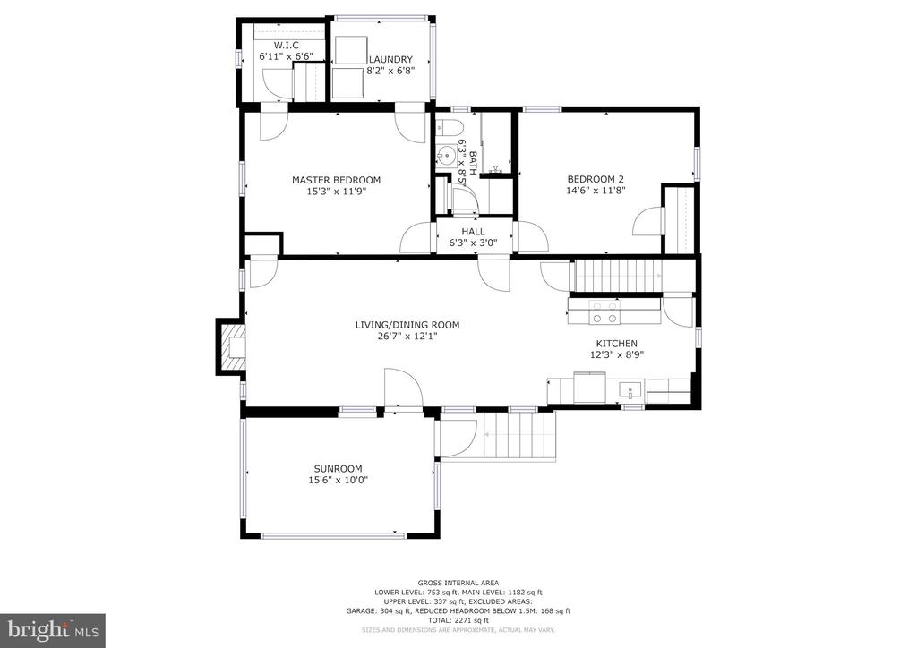 Lower Level Floor Plan - 3211 19TH ST N, ARLINGTON