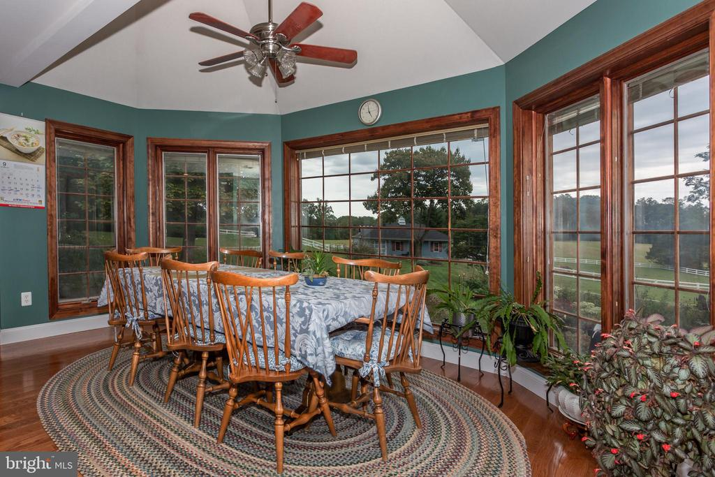 Breakfast Room Amazing Views Of Barn And Gardens - 6401 STALLION RD, CLIFTON