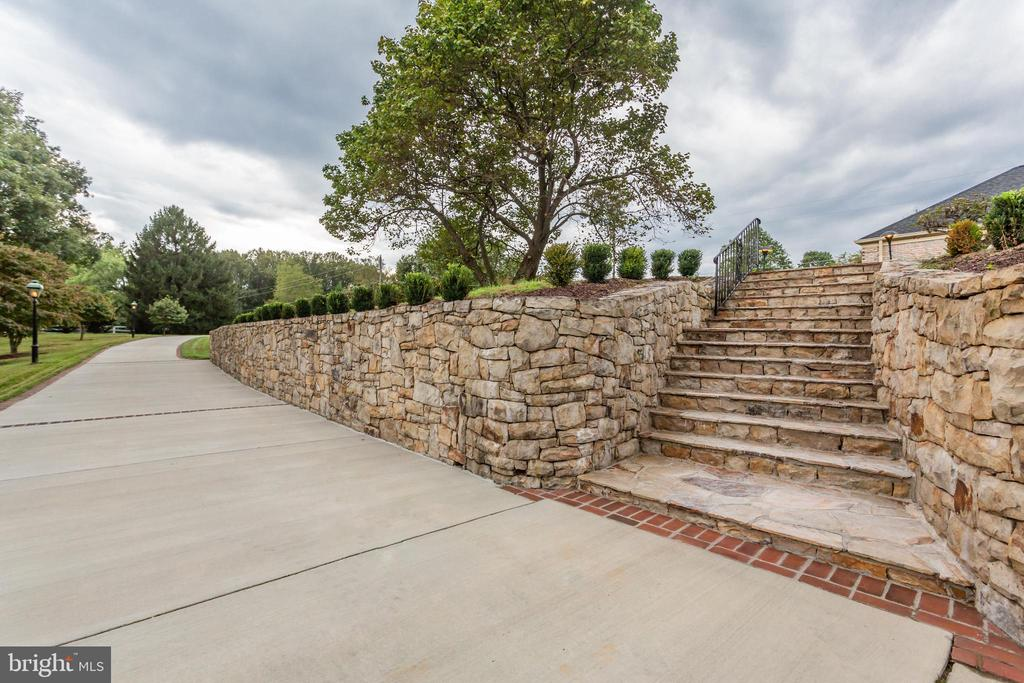 Extensive Stone Hard Scape And Stairs - 6401 STALLION RD, CLIFTON