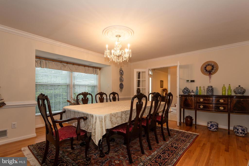 Private Formal Dining Room With French Doors - 6401 STALLION RD, CLIFTON