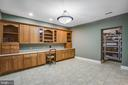 Basement office/library - 11305 HONOR BRIDGE FARM CT, SPOTSYLVANIA