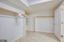 Basement bedroom walk in closet - 11305 HONOR BRIDGE FARM CT, SPOTSYLVANIA