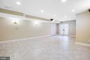 Basement recreation room - 11305 HONOR BRIDGE FARM CT, SPOTSYLVANIA