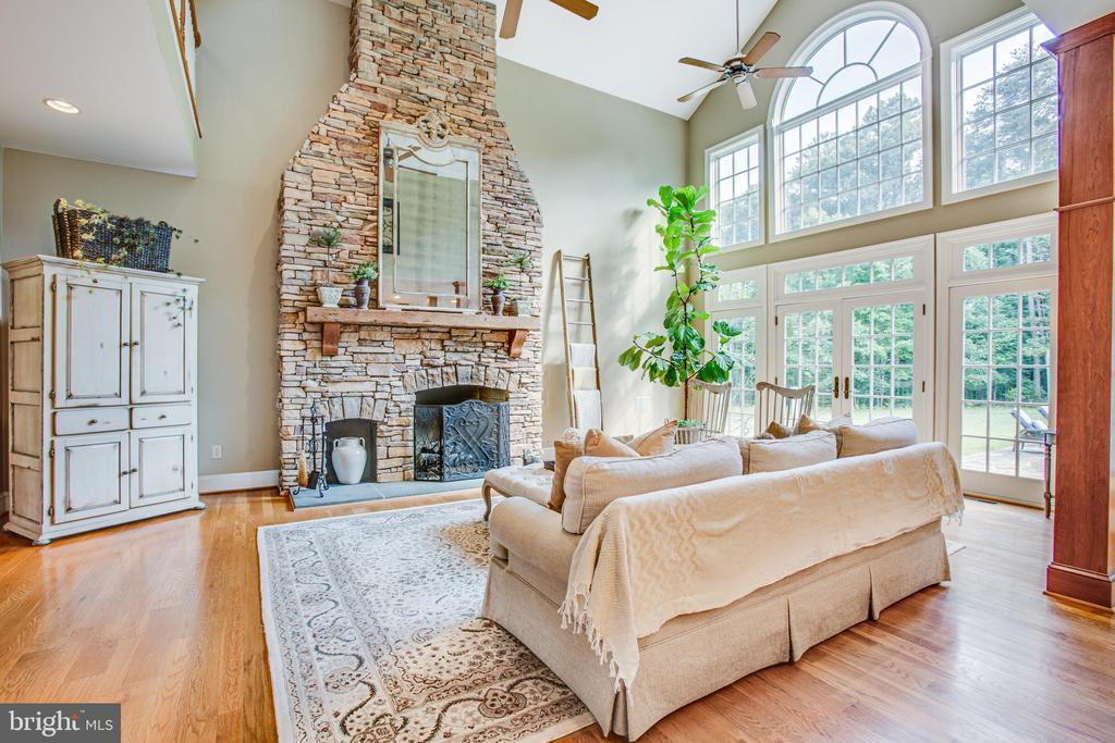 Stunning fireplace & walls of windows! - 11305 HONOR BRIDGE FARM CT, SPOTSYLVANIA