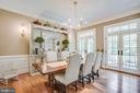 Formal dining room! - 11305 HONOR BRIDGE FARM CT, SPOTSYLVANIA