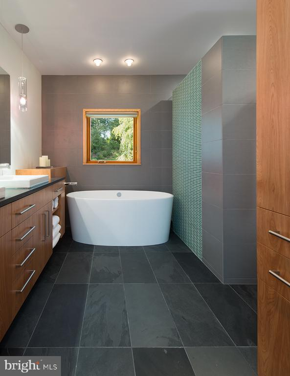 Free standing tub in owner's spa w/custom cabinets - 4611 36TH ST N, ARLINGTON