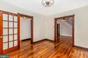 French doors lead to dining room - 192 W ALL SAINTS ST, FREDERICK
