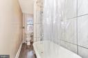 Full bathroom featuring vintage clawfoot tub - 192 W ALL SAINTS ST, FREDERICK